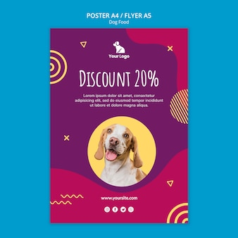 Poster template dog food