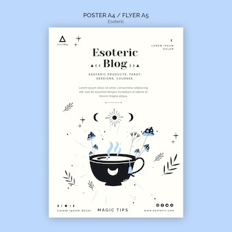 Poster template for esoteric blog