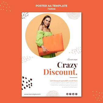 Poster template for fashion shopping store