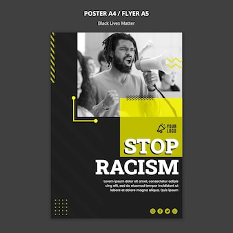 Poster template for fighting racism