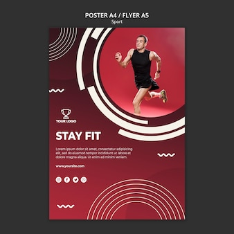 Poster template for fitness and sport
