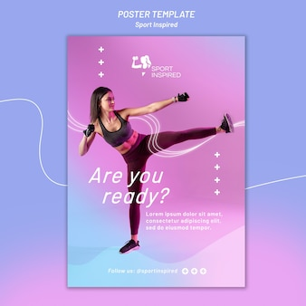 Poster template for fitness training
