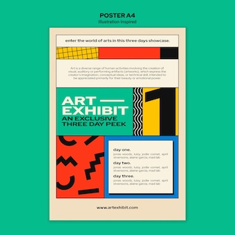 Шаблон плаката для художественной выставки