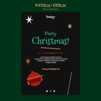 Шаблон плаката на рождество