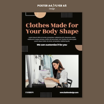 ファッションデザイナーのためのポスターテンプレート