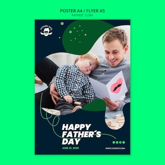 Шаблон постера для празднования дня отца