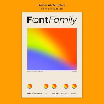 Шаблон плаката для шрифтов и дизайна