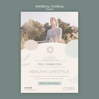 건강한 라이프 스타일 회사 포스터 템플릿