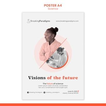 新しい科学者会議のポスターテンプレート