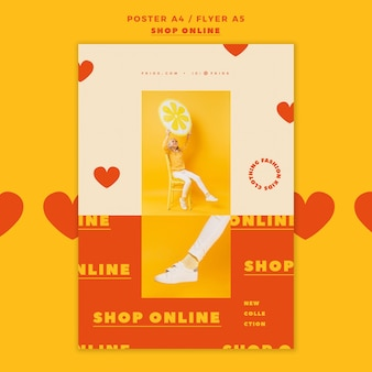 Шаблон постера для интернет-магазина