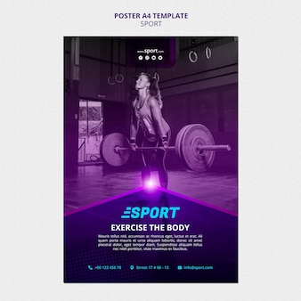 Шаблон плаката для занятий спортом