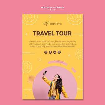 Шаблон постера для путешествующего тура