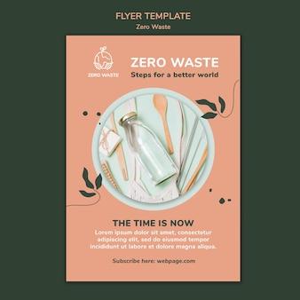 Шаблон плаката для образа жизни без отходов