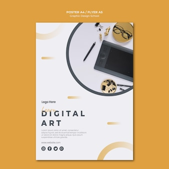 Poster template graphic design