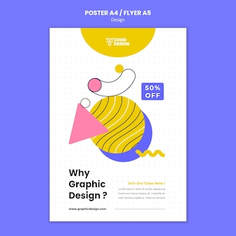 Poster template for graphic design
