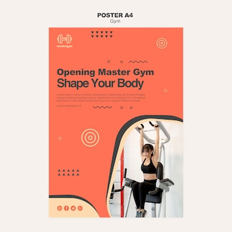 Poster template for gym activity