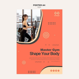 Poster template for gym exercising