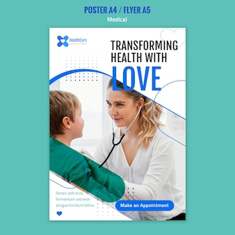 Poster template for healthcare