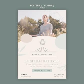 Modello di poster per un'azienda di stile di vita sano