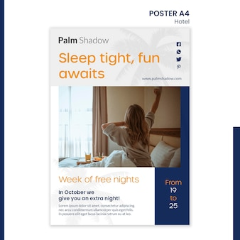 Poster template for hotel reservation