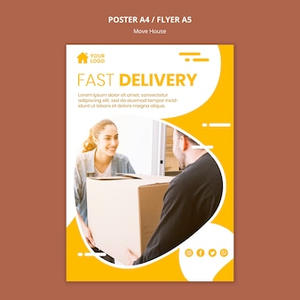 Poster templatefor house moving company
