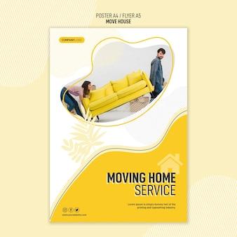Modello di poster per servizi di trasferimento di case