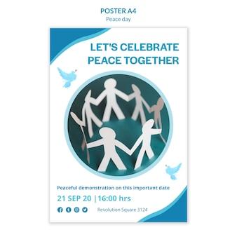Modello di poster per la giornata internazionale della pace