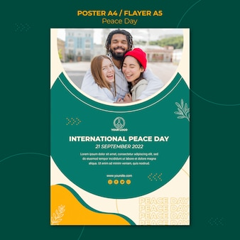 Poster template for international peace day