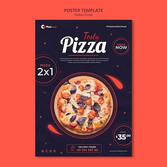 Poster template for italian food restaurant