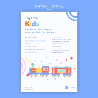 Poster template for kids toys online shopping
