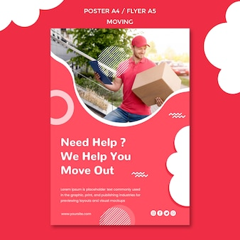 Poster template for moving company
