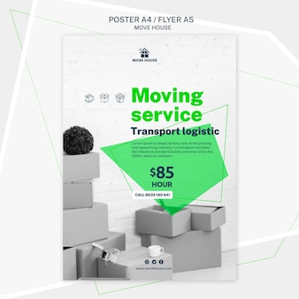 Poster template for moving service