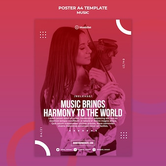 Poster template for music lovers