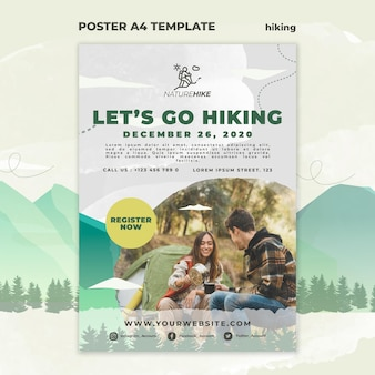 Poster template for nature hiking