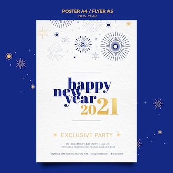 Poster template for new years party celebration