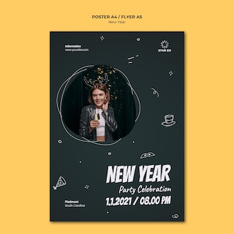 Poster template for new years party