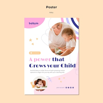 Poster template for newborn baby