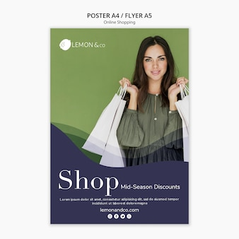Poster template for online fashion sale
