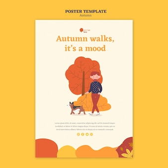 Poster template for outdoors autumn activities