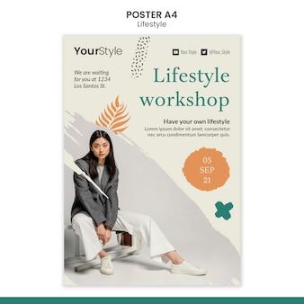 Modello di poster per uno stile di vita personale