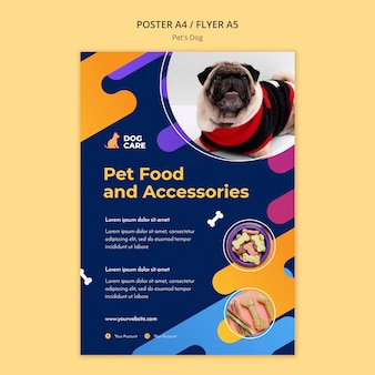 Poster template for pet shop business