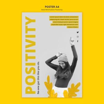Modello di poster per positivismo