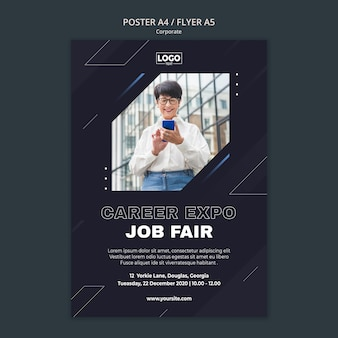 Modello di poster per società di affari professionali
