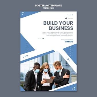 Poster template for professional business