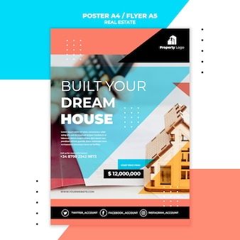 Poster template for real estate company