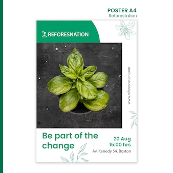 Poster template reforestation ad