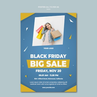 Poster template for retail sale