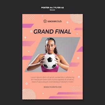 Modello di poster per il calcio