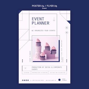 Modello di poster per la pianificazione di eventi sociali e aziendali