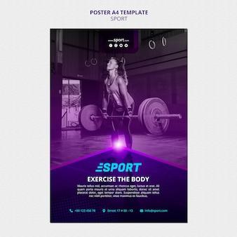 Modello di poster per attività sportive